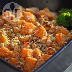 Butternut squash and blue cheese bake @ allrecipes.co.uk  Planning on trying this with what is left of the Tesco Finest Stilton I got for free with the Tesco Orchard program....thats  if hubby doesn't polish off the cheese first!!
