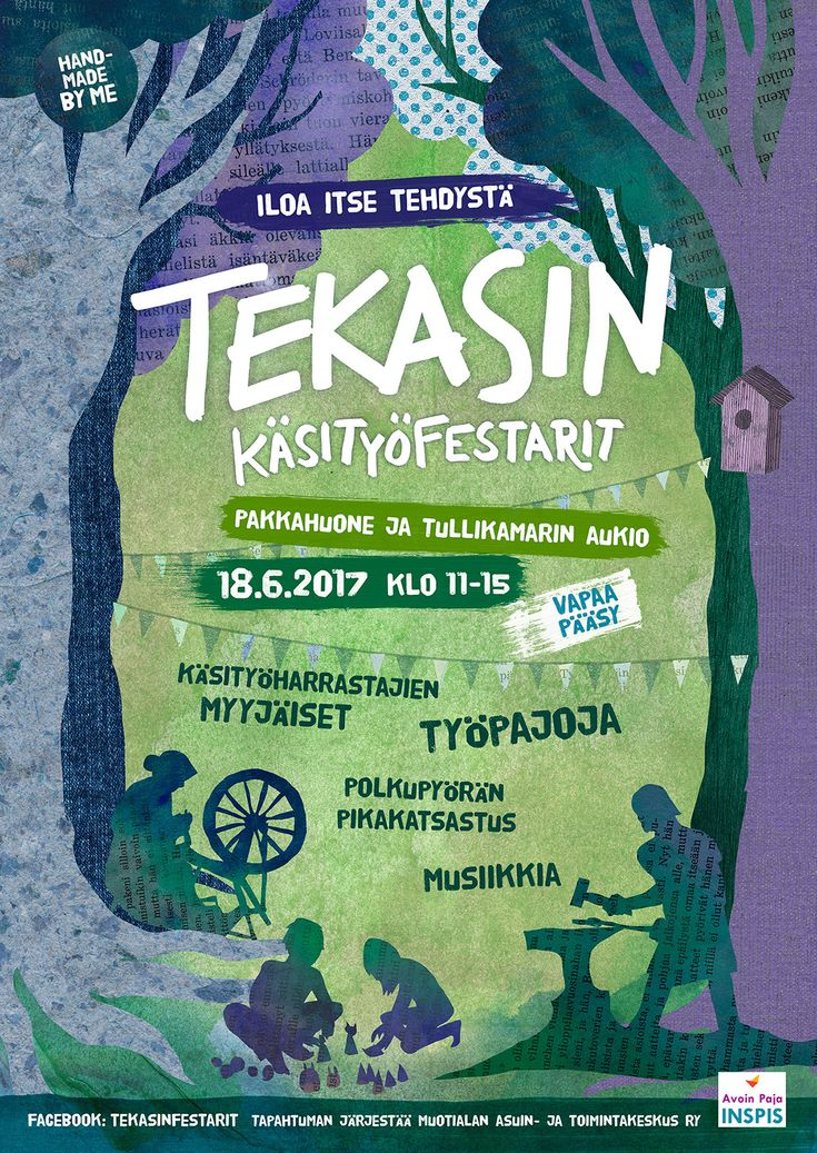 Tekasin festival 2017 poster by Teemu Helenius, via Behance