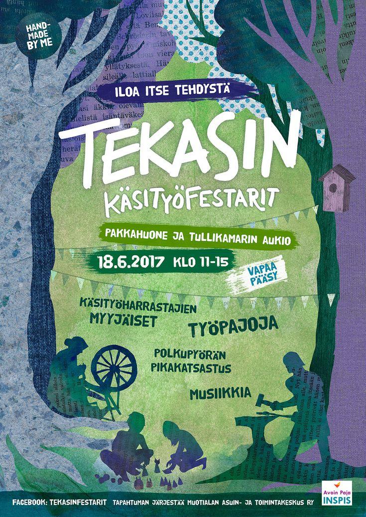 Tekasin festival 2017 poster by Teemu Helenius, via Behance