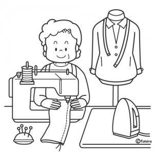costureira desenho