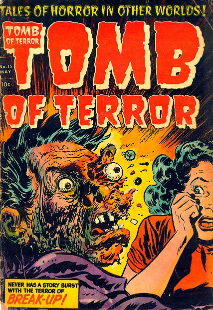vintage comic book covers | tomb of terror #15 exploding face classic horror comic book covers