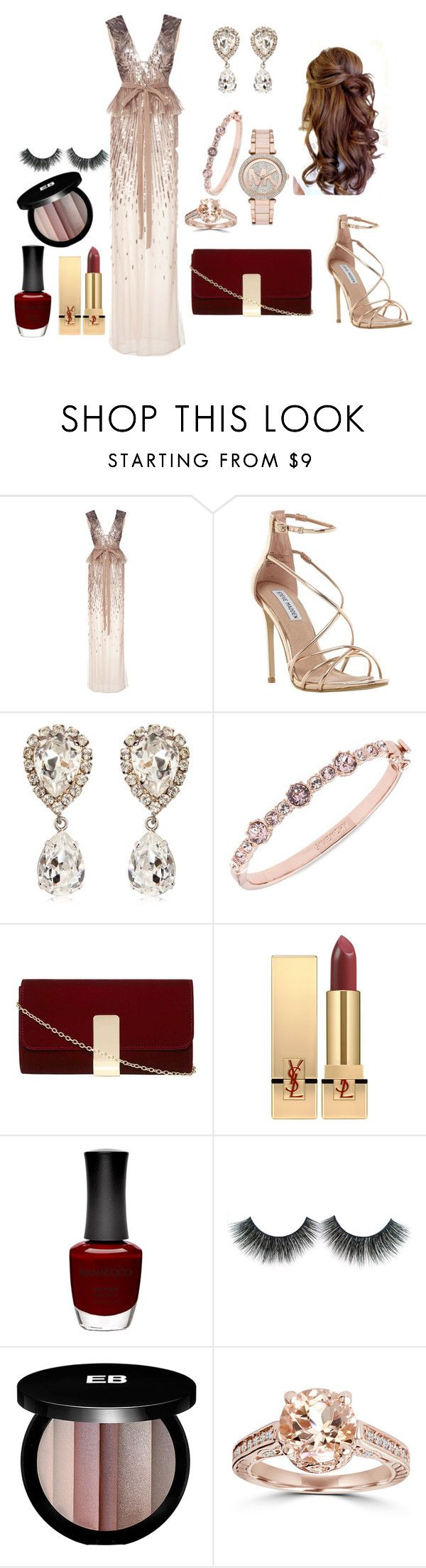 """""""Untitled #18"""" by hajar-111 on Polyvore featuring Monique Lhuillier, Steve Madden, Dolce&Gabbana, Givenchy, Dorothy Perkins, Yves Saint Laurent, Nanacoco, Edward Bess, Bliss Diamond and Michael Kors"""