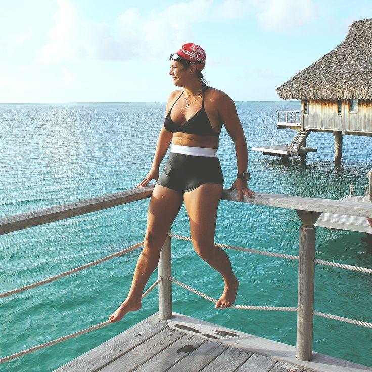 AnnaPS Ambassadeur and sportswoman Josefin Palmen wearing AnnaPS bikini when diving in the beautiful blue caribbean ocean