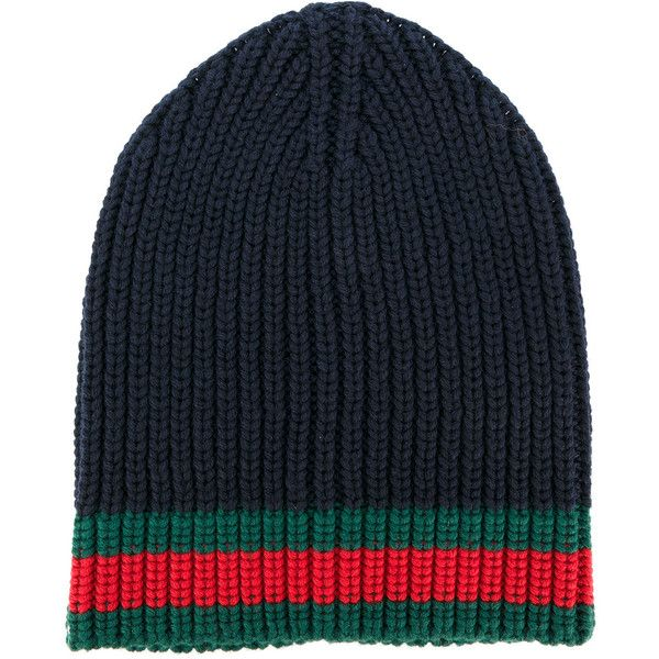 Gucci GG vintage web ribbed beanie ($295) ❤ liked on Polyvore featuring men's fashion, men's accessories, men's hats, blue, vintage mens hats, mens wool hats, mens beanie hats, gucci mens hat and vintage mens accessories