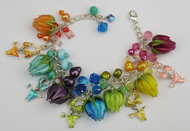 A rainbow of tulips.....now to locate the beads to make this.......!