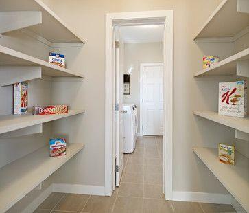 more basic walk-through pantry