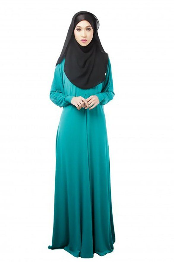 Elegant Hot Sale New Turkish Clothing Muslim Women Dress Pictures Casual Black
