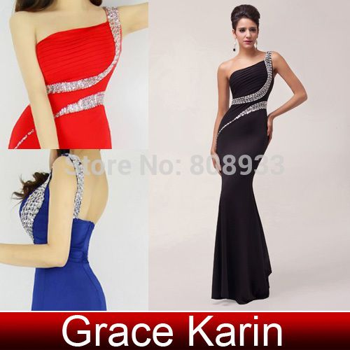 Cheap dress pendant, Buy Quality dresses for larger ladies directly from China dress pashmina Suppliers:	  		  	  	  	2014 Grace Karin Backless Split One Shoulder Black Red Blue Purple Evening Dress Long