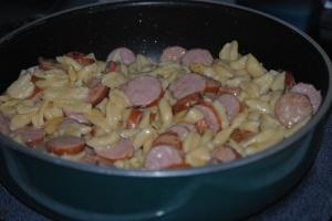 Knepfla Hotdish!!  Don't wanna make this too often, soooo good!: Hotdish Knepfla, Sausages, Knepfla Hotdish, Hot Dish, Recipes, German Food, Cooking, Kneopfla Hotdish