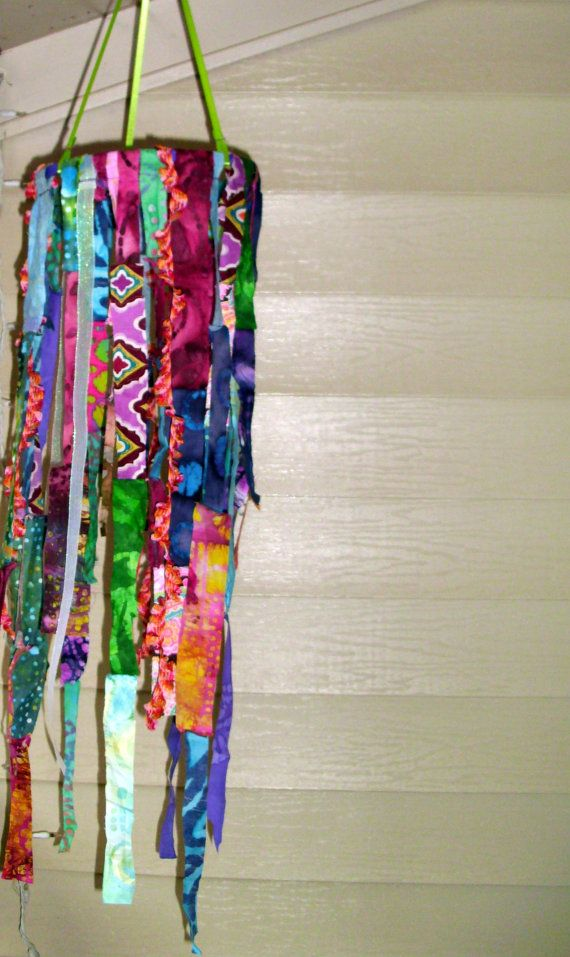 Hippie Bohemian Hanging Fabric Mobile by MusicTeachah on Etsy, $28.00