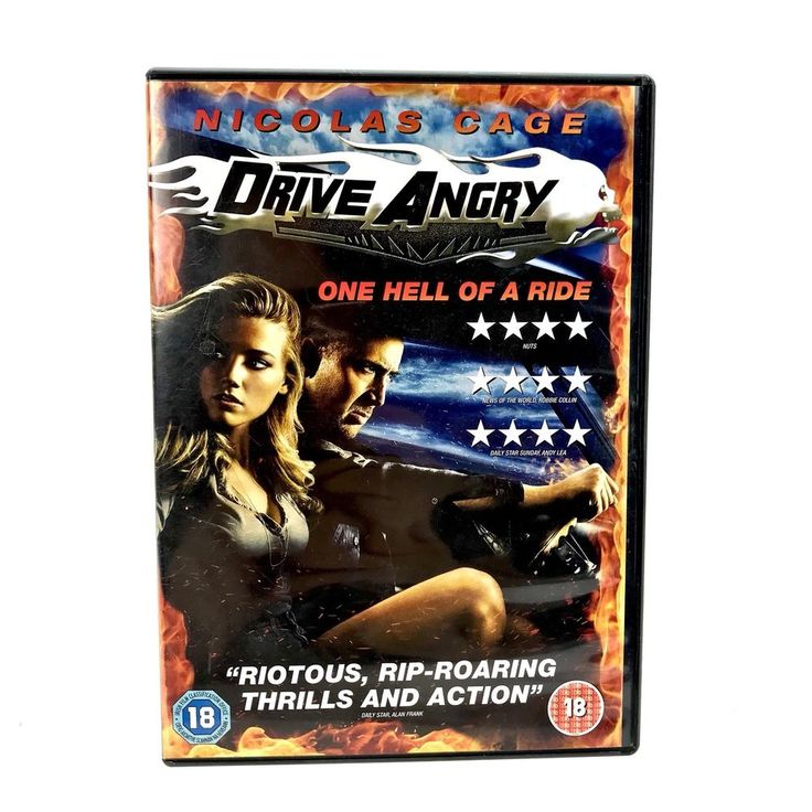 Drive Angry DVD Movie 2011 one hell of a ride Nicolas Cage action adventure 18+
