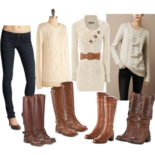 boots  boots boots!: Boots Boots, Sweaters Dresses, Jeans, Winter Outfit, Riding Boots, Fall Fashion, Brown Boots, Cozy Sweaters, Boots Outfit