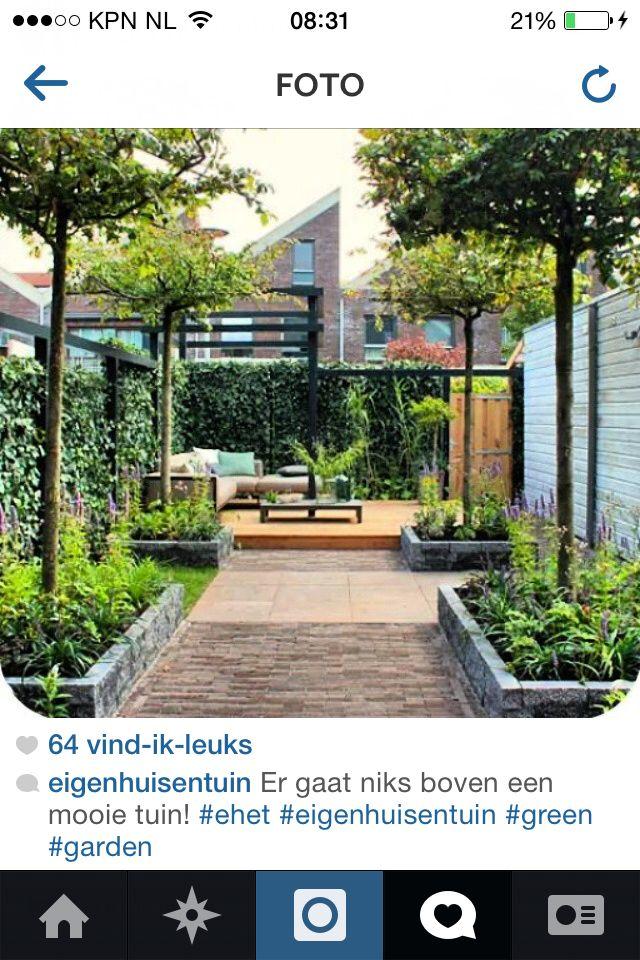 Indeling smalle kleine tuin