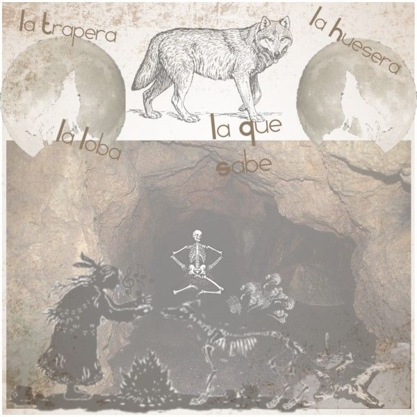 """""""La Loba - Wolf Woman"""" by hotspotcreativity on Polyvore"""