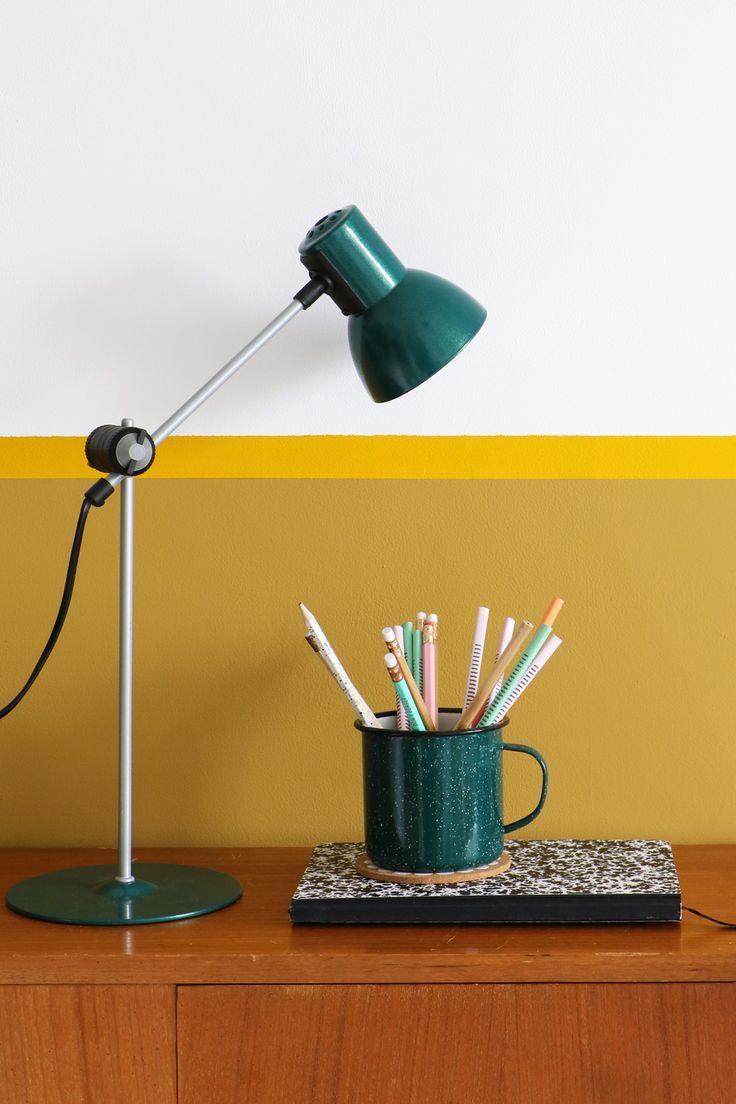 MY ATTIC SHOP / vintage desk lamp / workspace / office / green / ochre Photography: Marij Hessel www.entermyattic.com