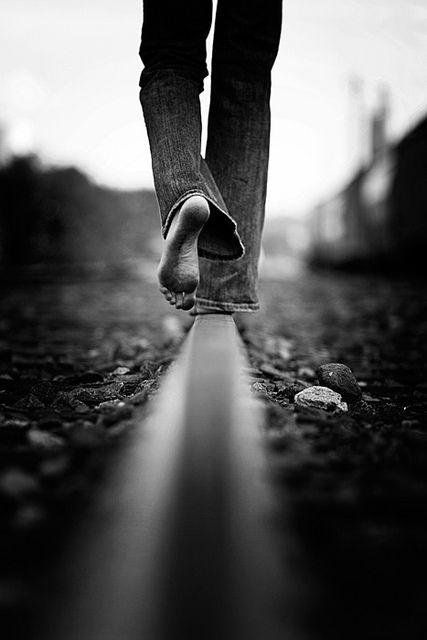 //Walk The Line -- by Trey Brafford #blackandwhite #photography