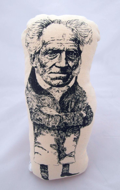 Arthur Schopenhauer handmade cotton plushie