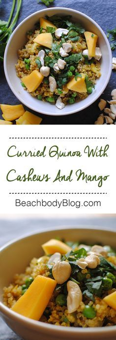 Curried Quinoa with cashews & mango // 21 Day Fix // 21 Day Fix Approved // fitness // fitspo  motivation // Meal Prep //  Meal Plan // Sample Meal Plan// diet // nutrition // Inspiration // fitfood // fitfam // clean eating // recipe // recipes