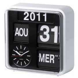 Horloge Flip Flap Rétro Avec Calendrier Orium Hisrev13