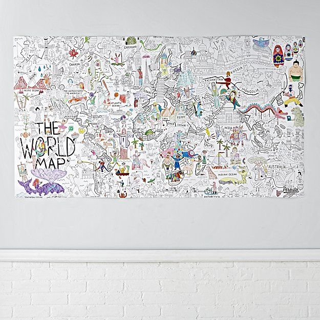 Best 25 giant world map ideas on pinterest best world map maps giant world coloring poster gumiabroncs Images