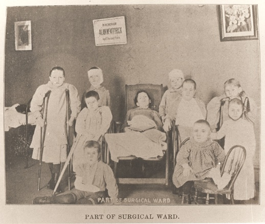 Surgical ward at Children's Hospital in the 1890s.