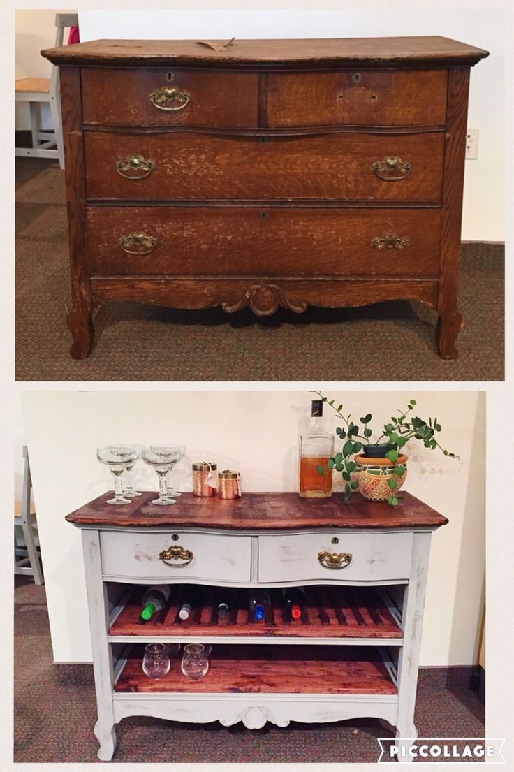 Antique Dresser to Wine Bar #diy