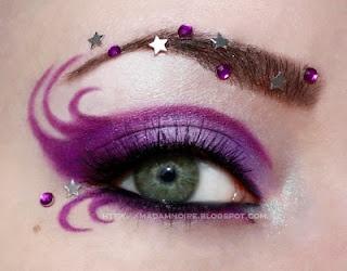 Good witch Purple & stars - Eye makeup, eyeshadow, art