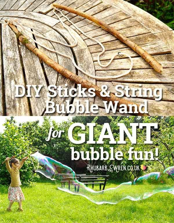 How To Make A Giant Bubble Wand Giant Bubbles Giant Bubble