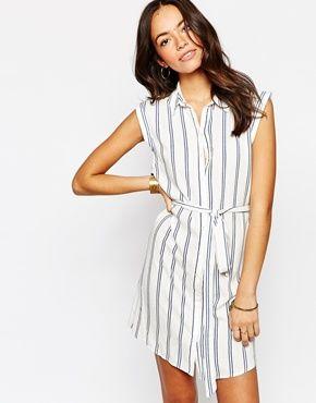 New Look Striped Shirt Dress
