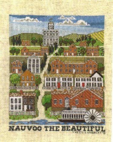 Nauvoo the Beautiful--Religious, LDS & Mormon Cross Stitch Patterns | Yvette Ungricht Cross Stitch
