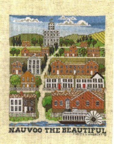 Nauvoo the Beautiful--Religious, LDS & Mormon Cross Stitch Patterns | Yvette Ungricht Cross Stitch
