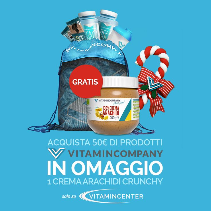 Acquista entro oggi, 6/01/2017, 50€ di prodotti @Vitamin_Company, in OMAGGIO 1Crema di Arachidi da 400g Crunchy > www.vitamincenter.it/brands/vitamincompany