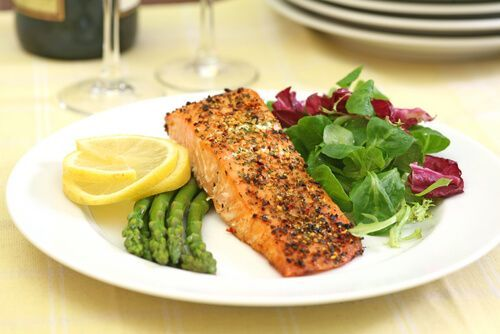 Baked Salmon with Asparagus