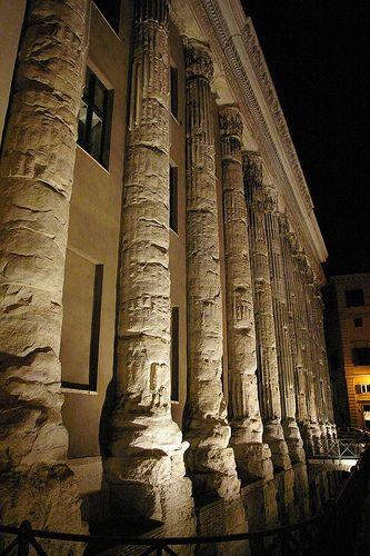 Temple of Hadrian (Tempio Adriano) on the Campus Martius, Rome