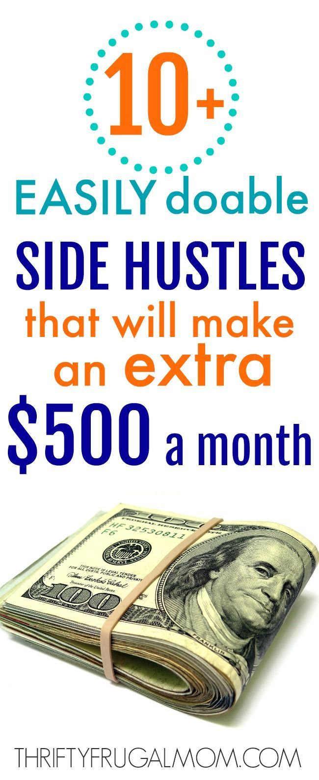 10 Easily Doable Side Hustles That Will Make You Extra Money Extra Money Earn Extra Money Side Hustle