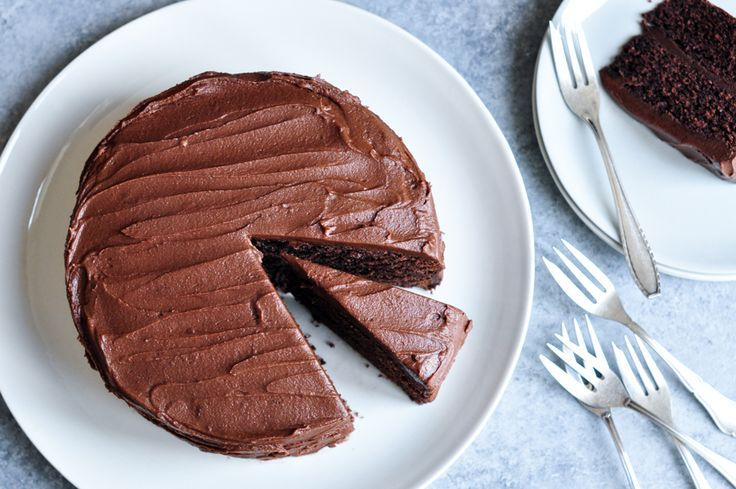 Sour-Cream Chocolate Cake. The best chocolate cake for birthday parties. Recipe adapted from Nigella Lawson.