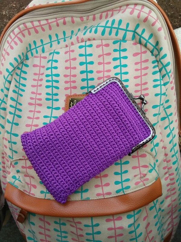 Frame pouch cell phone