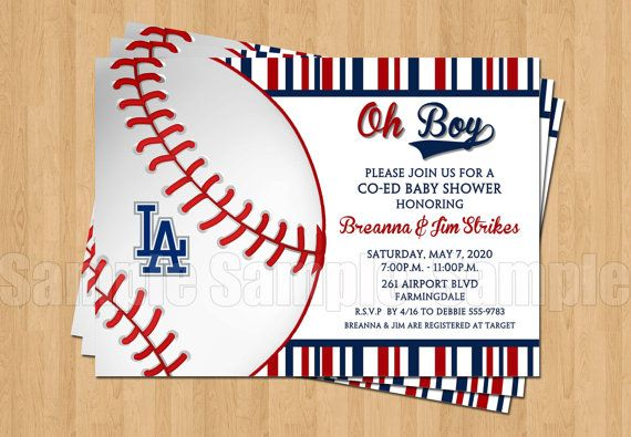 Baseball Los Angeles Dodgers Baby Boy Shower by my3sweetcheeks, $10.00