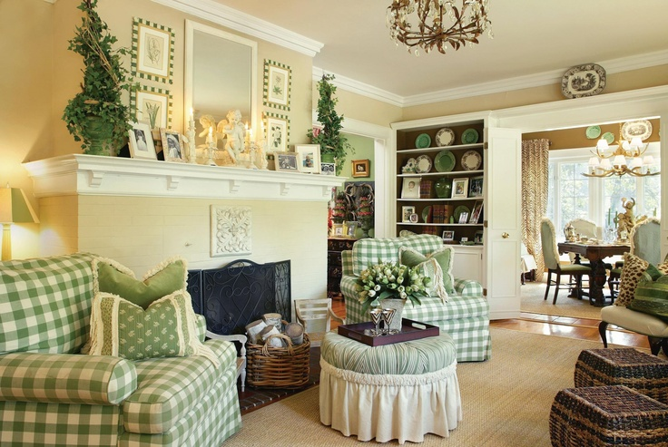 like this fireplace style: Interior Design, Joy Tribout, Livingrooms, Living Rooms, Interiors, Decorating Ideas, Green, Family Rooms, Buffalo Check