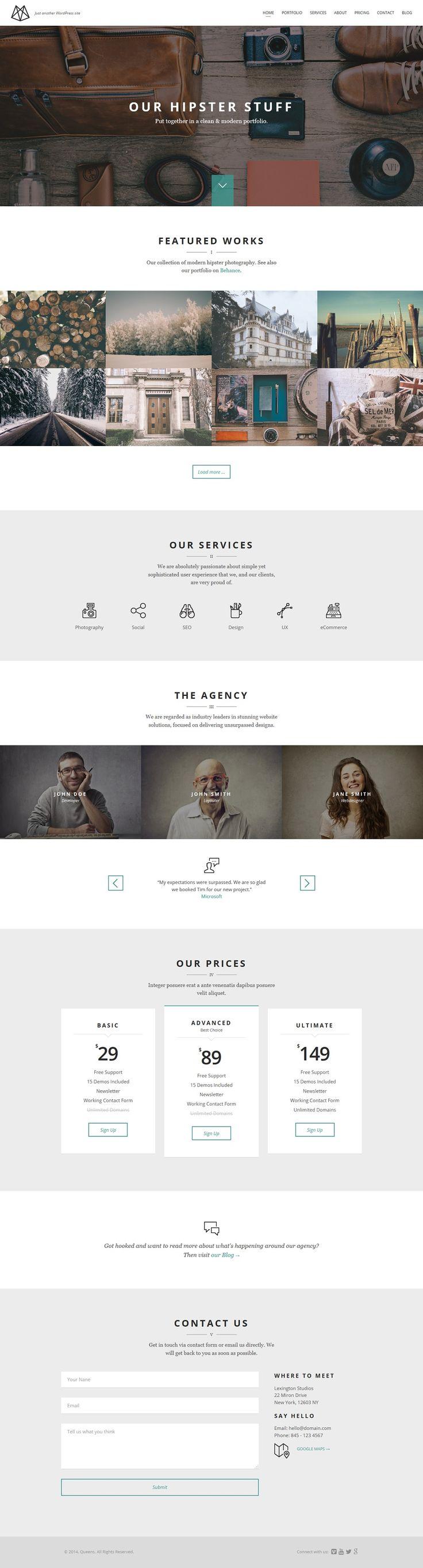 Creative Portfolio Wordpress Themes