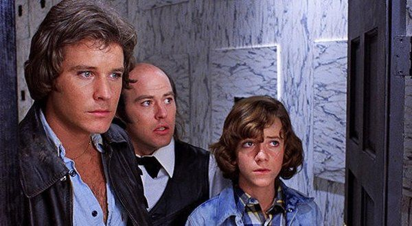 A. Michael Baldwin, Reggie Bannister, and Bill Thornbury in Phantasm (1979)