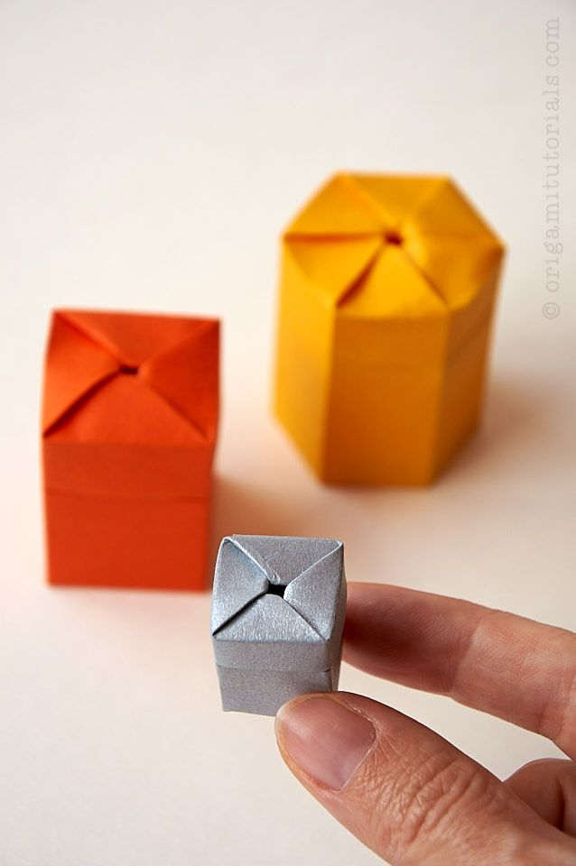 Self-Closing Origami Twist Box