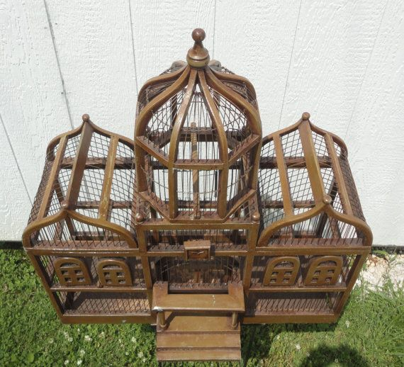 Best Large Palace Style Wood And Wire Bird Cage Early 20Th 400 x 300