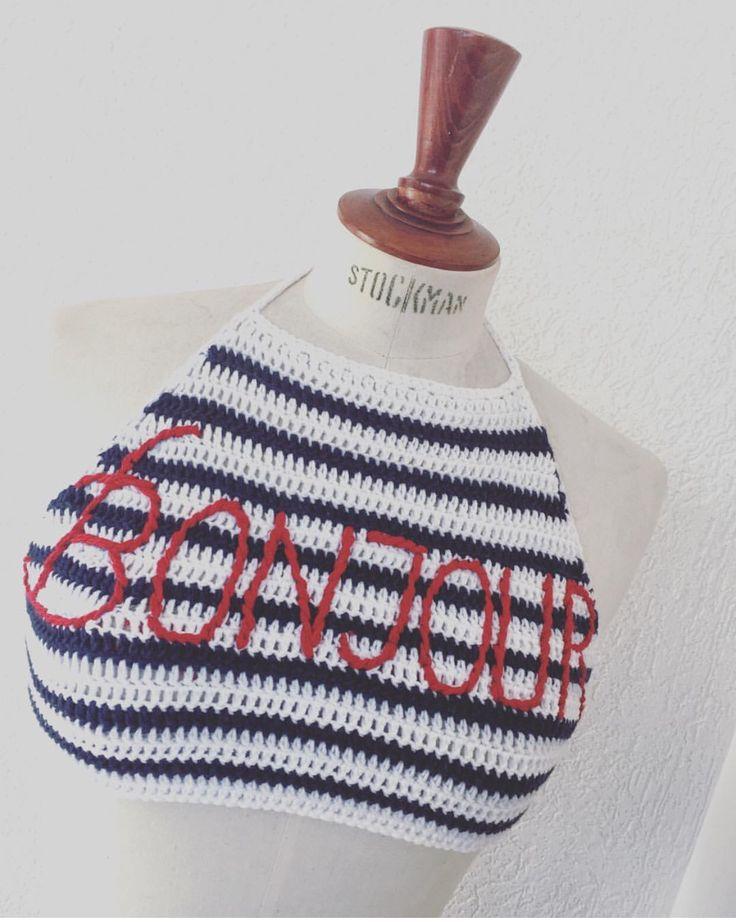 Crochet halterneck top
