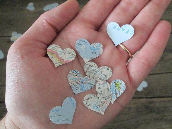 Carte 500 Coeurs Confetti Cartes Fabriques A Partir De Atlas