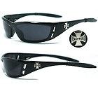 Hot biker Choppers hommes lunettes de soleil -  Black / Black Lens C46