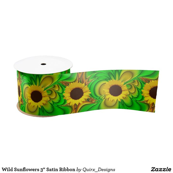 "Wild Sunflowers 3"" Satin Ribbon"