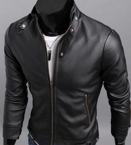 2013 New Mens fashion leather clothing Motorcycle Jacket short coat