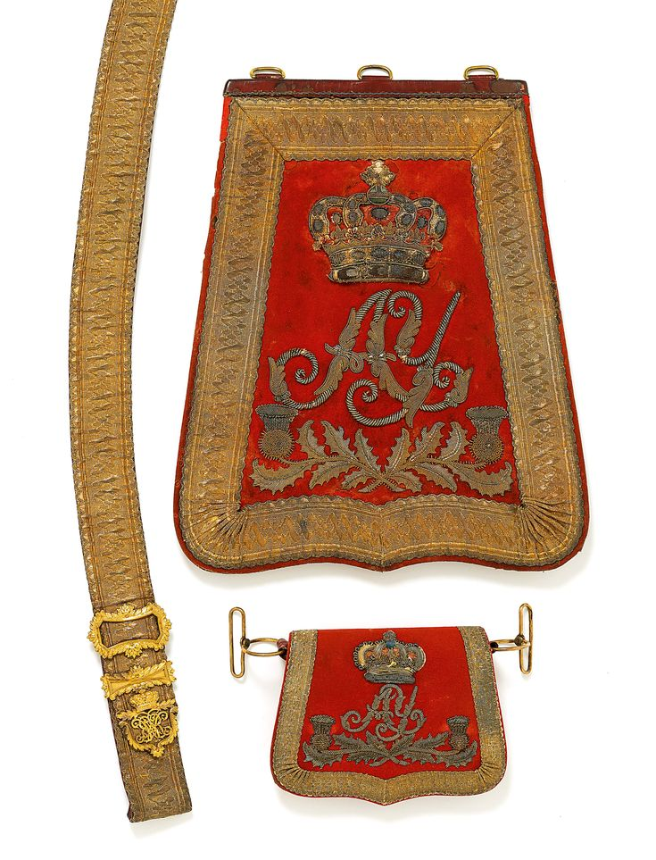 British; Ayrshire Yeomanry, Officer's Sabretache, Pouch Belt & Pouch, Georgian period
