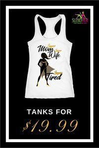 """Are you a mom and wife? Check out this """"Super Mom, Super Wife, Super Tired"""" racerback tank top.  The 60% combed ringspun cotton/40% polyester lightweight fabric blend is perfect for your workouts.  See the sizing chart to get this """"Super Mom, Super Wife,"""
